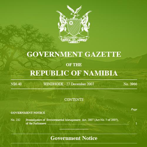 Namibia Environmental Management Act