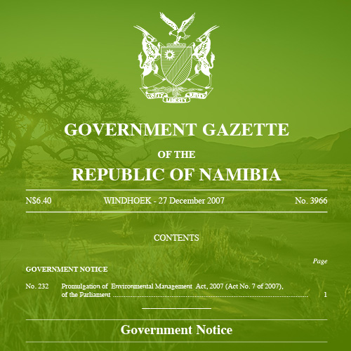 Namibia Environmental Management Act